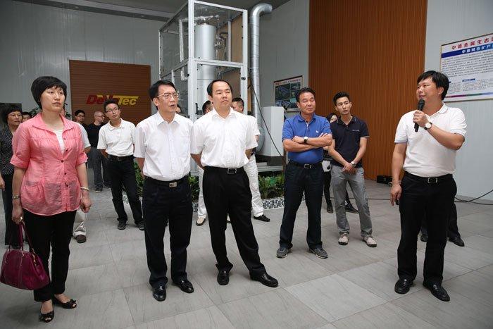 省环保厅长莅揭调研中德资源再生基地项目和表面处理中心